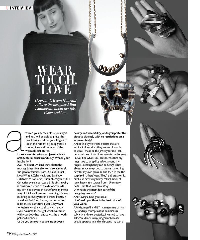 U Magazine Jordan - November 2011