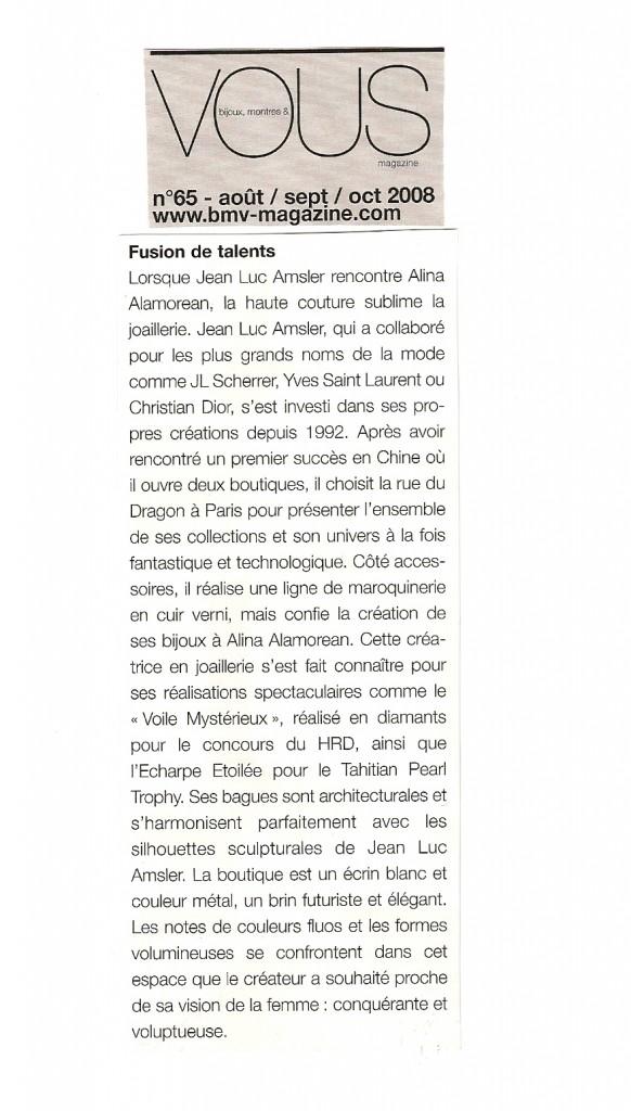 Bijoux, Montres & Vous - autumn 2008
