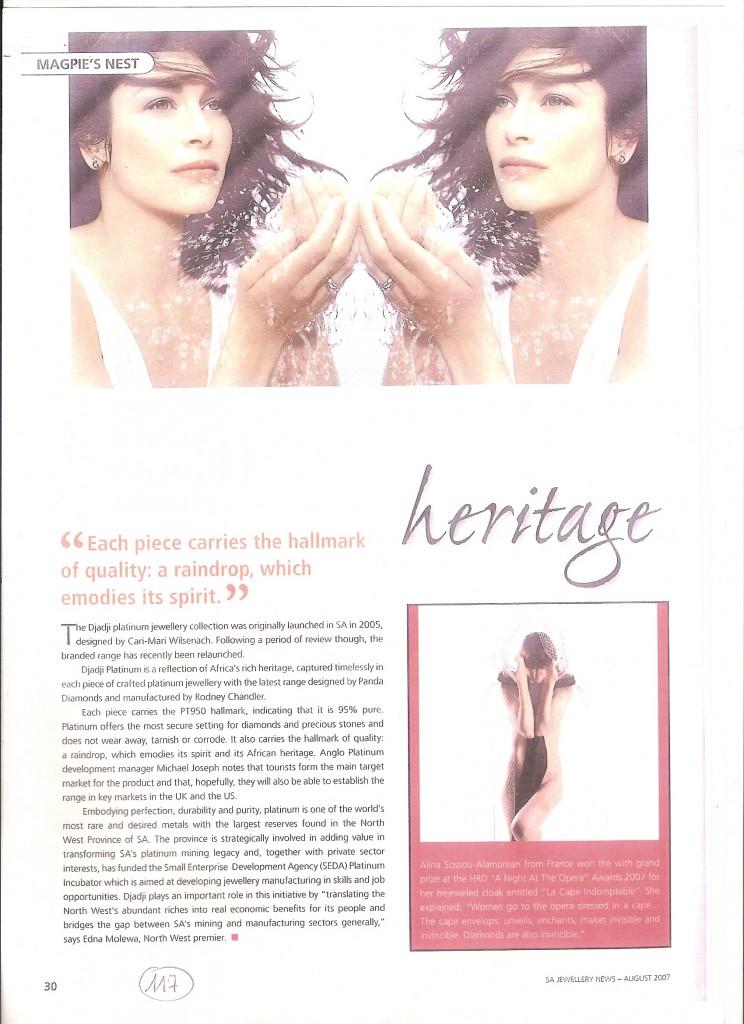SA Jewellery News - August 2007